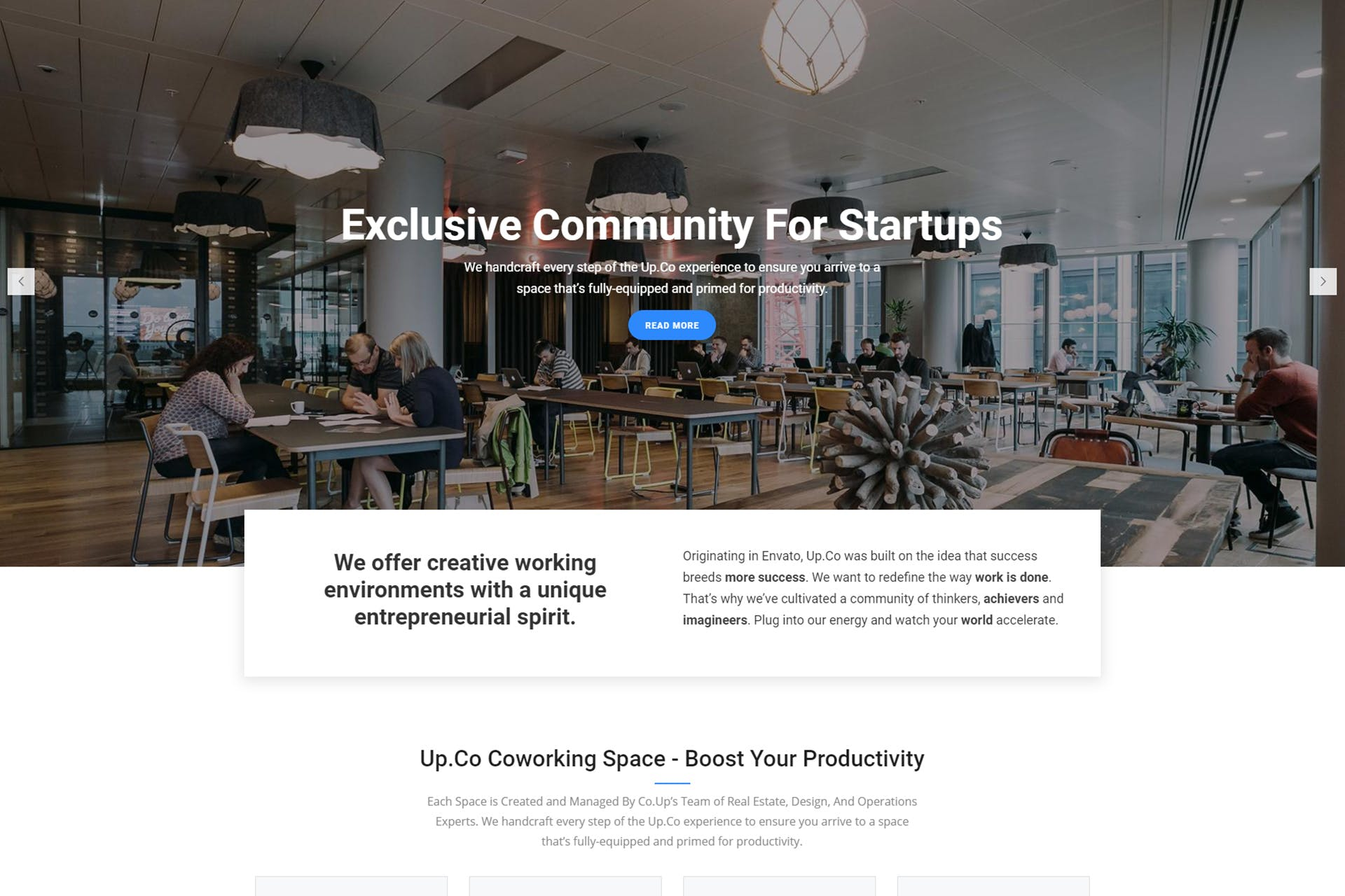 Up.Co - Creative Office Space & Business Drupal