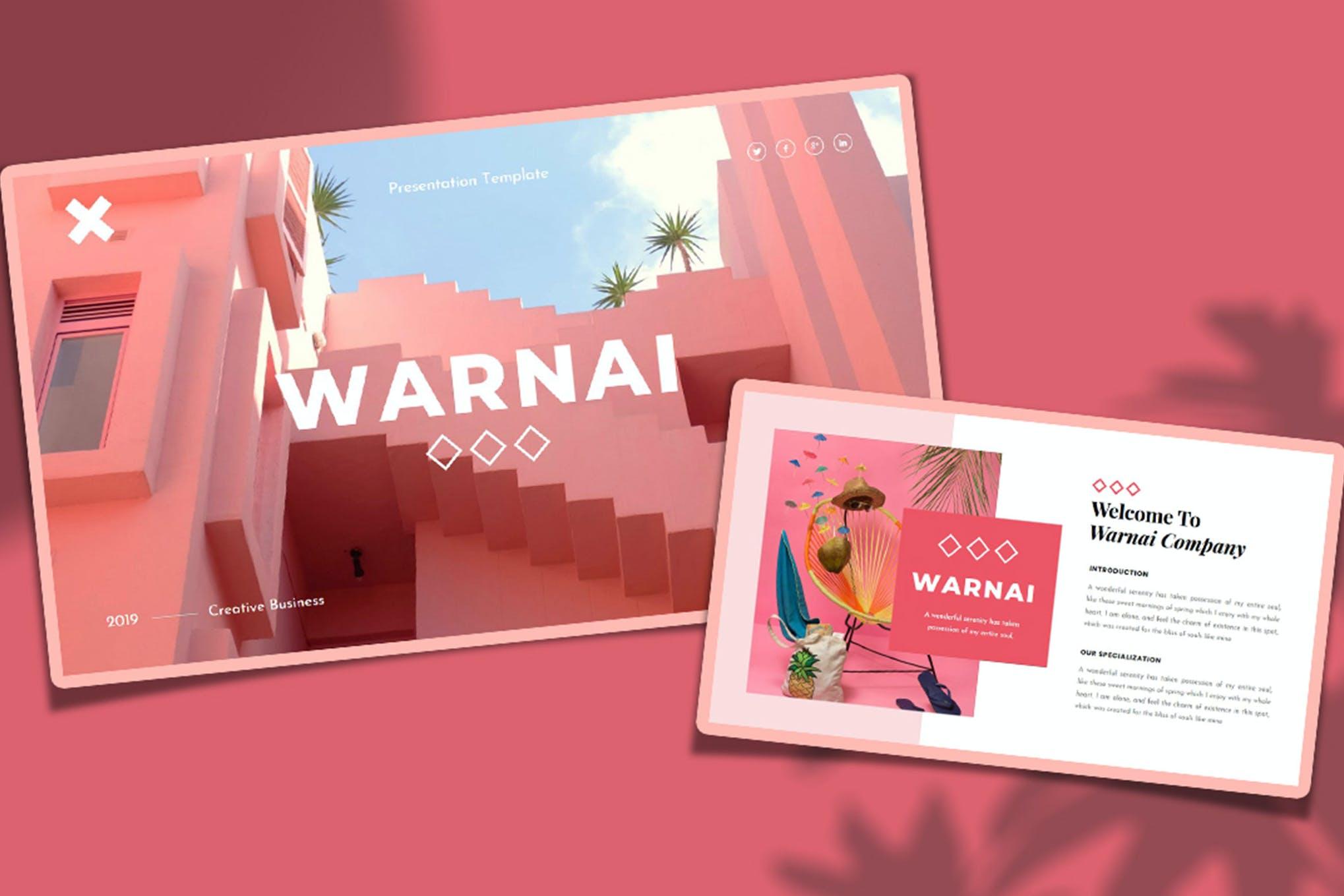 Warnai - Creative Business PowerPoint Template
