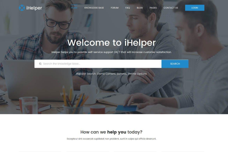 iHelper - Drupal Knowledge & Helpdesk Theme