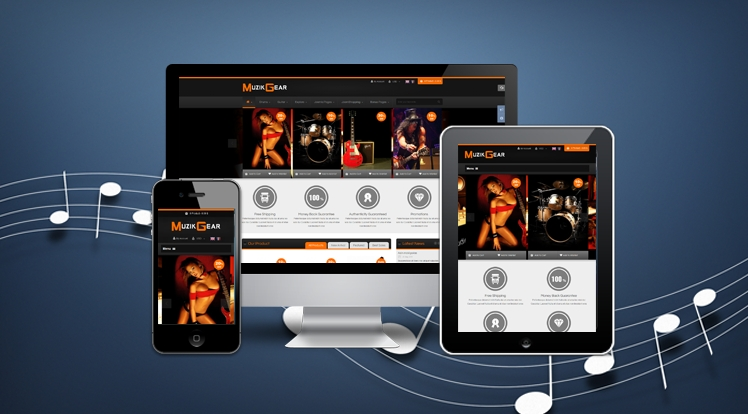 music theme for Joomla