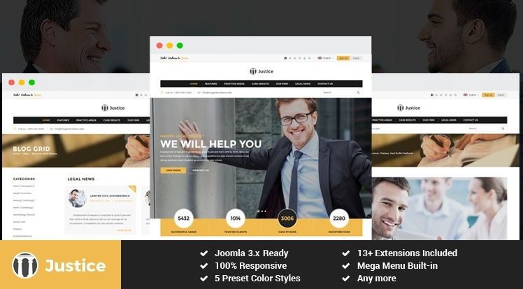 template for the law firm Joomla