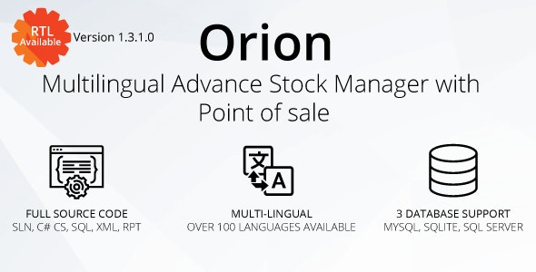 Oron - Multilingual advance stock manager with Point of sale system