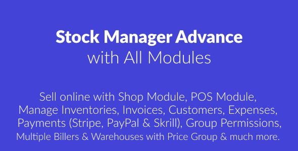 Stock Manager Advance with All Modules