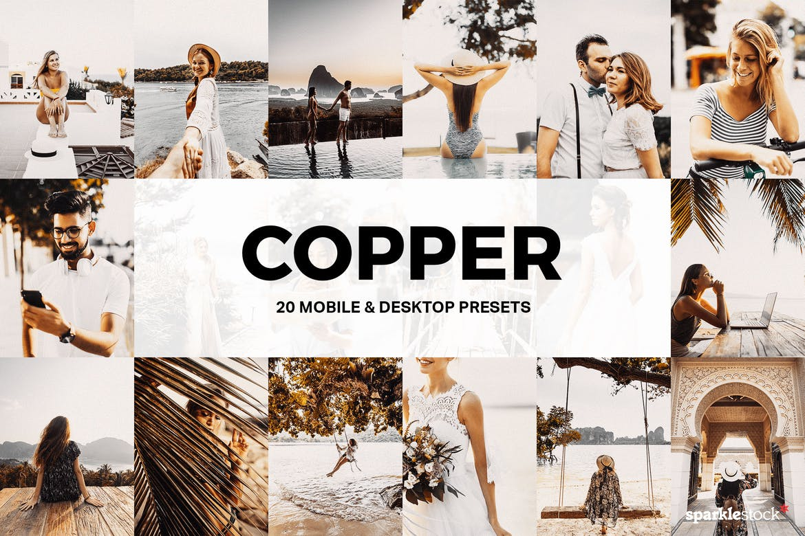 20 Copper Lightroom Presets and LUTs
