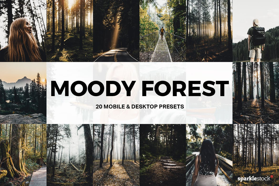 20 Moody Forest Lightroom Presets and LUTs