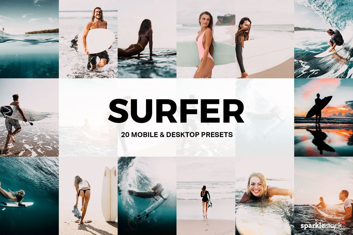 20 Surfer Lightroom Presets and LUTs
