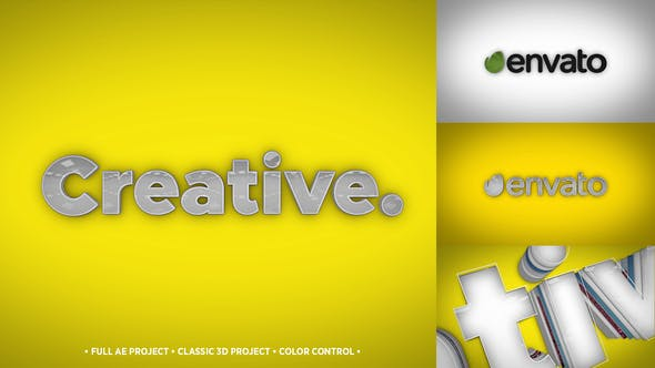 3D Typo Logo