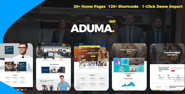 Aduma v1.3.1 - Consulting, Finance, Business WordPress Template