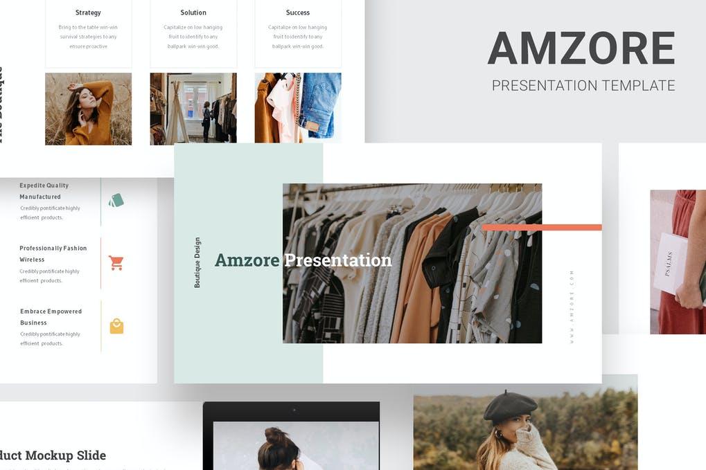 Amzore - Boutique Pitch Deck Google Slides
