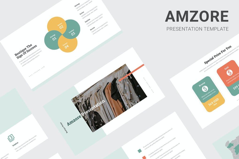 Amzore - Boutique Pitch Deck Keynote