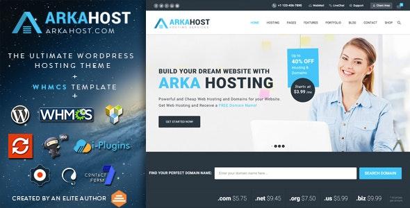 Arka Host v5.4 - WordPress hosting template