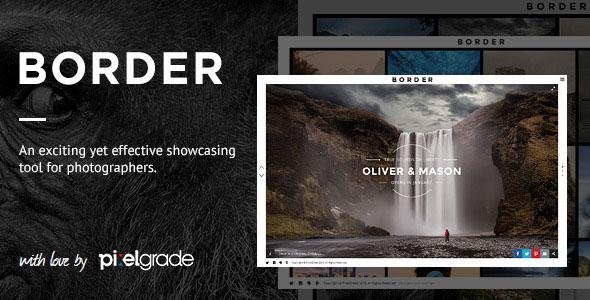 BORDER v1.9.1 NULLED - WP Theme for Photographers