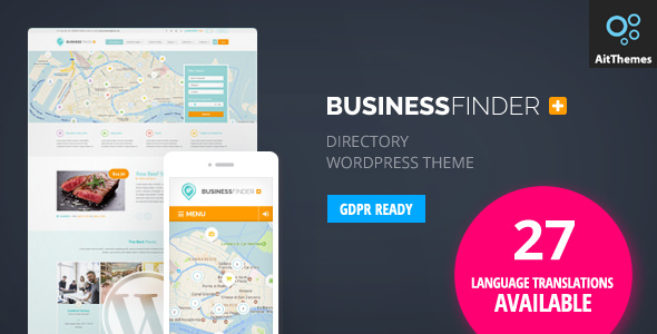 Business Finder v2.68 Directory Directory WordPress Template