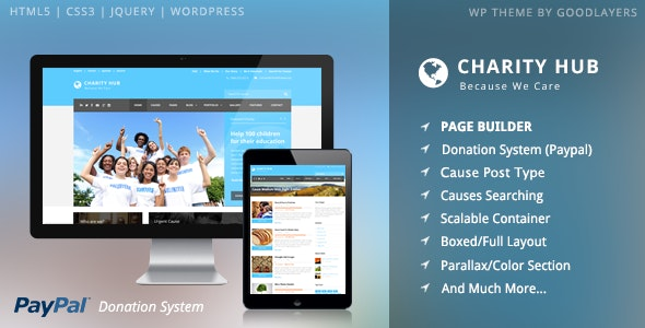 Charity Hub - Nonprofit - Fundraising WordPress