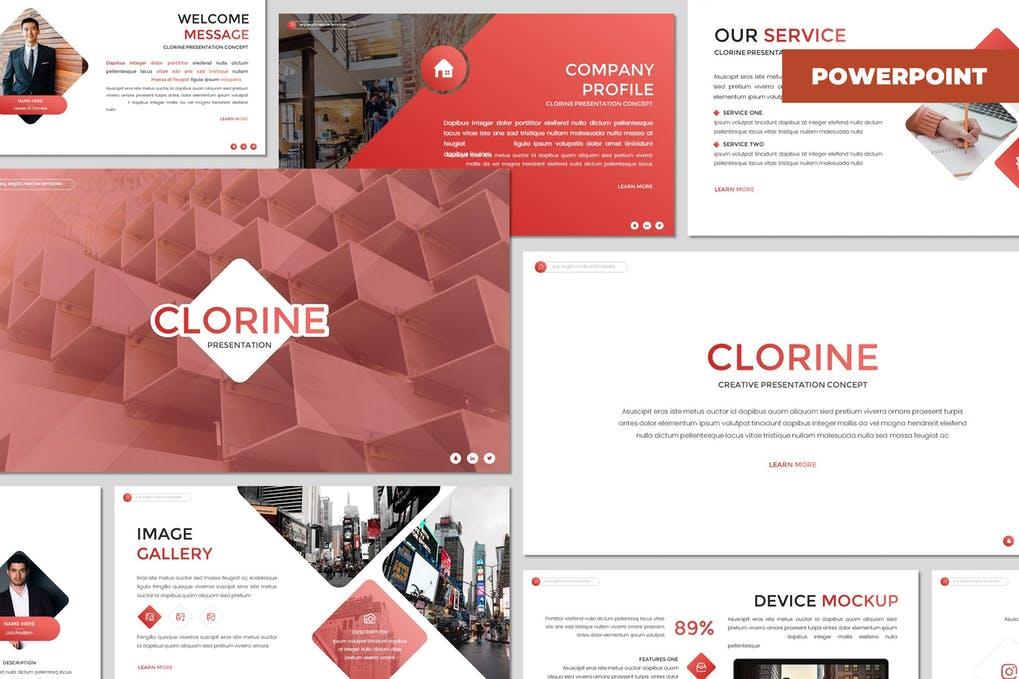 Clorine - Multipurpose Powerpoint Template