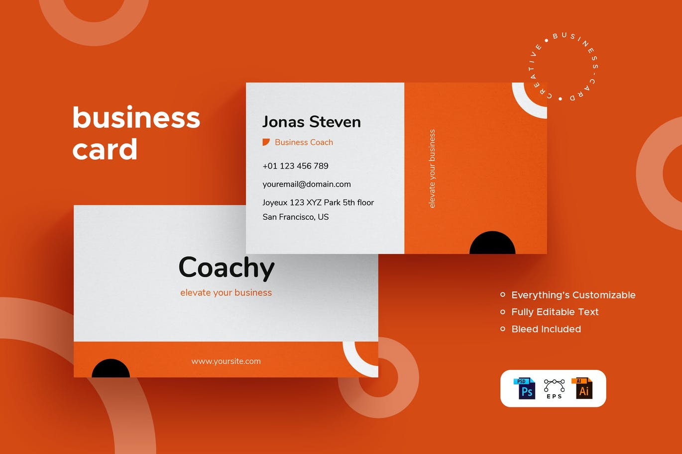 Coachy - Business Card - Stationery Kit