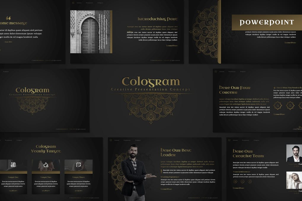 Cologram - Islamic Powerpoint Template