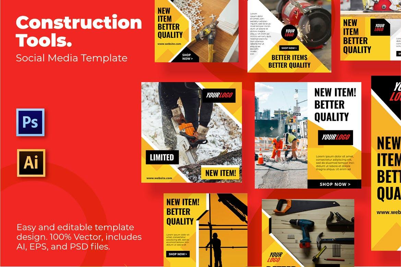 Construction Social Media Template