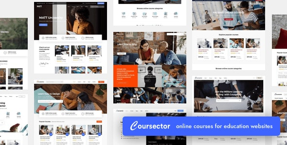 Coursector - WP Education Theme
