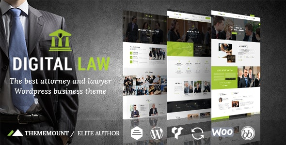 Digital Law - Attorney & Legal Advisor WordPress Theme