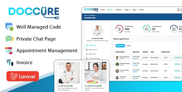Doccure - Doctor Appointment Booking System Template (HTML + Laravel)