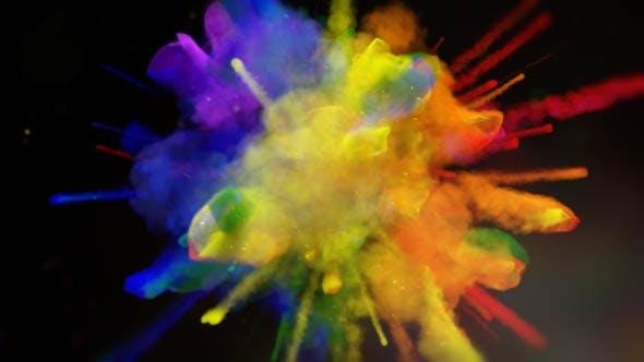 Exploding Colors Logo Reveal