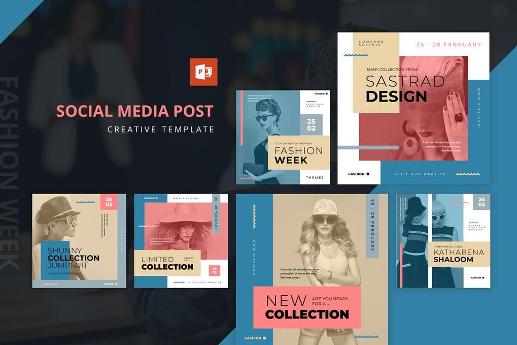 Fashion Week Instagram Feed Powerpoint Template