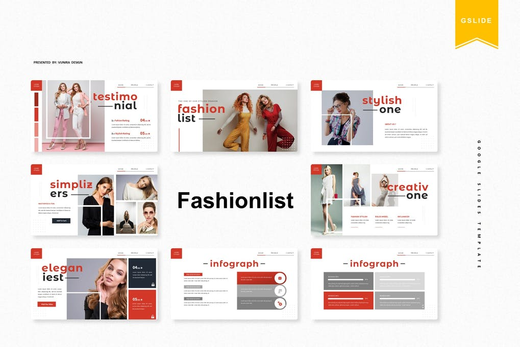 Fashionlist   Google Slides Template