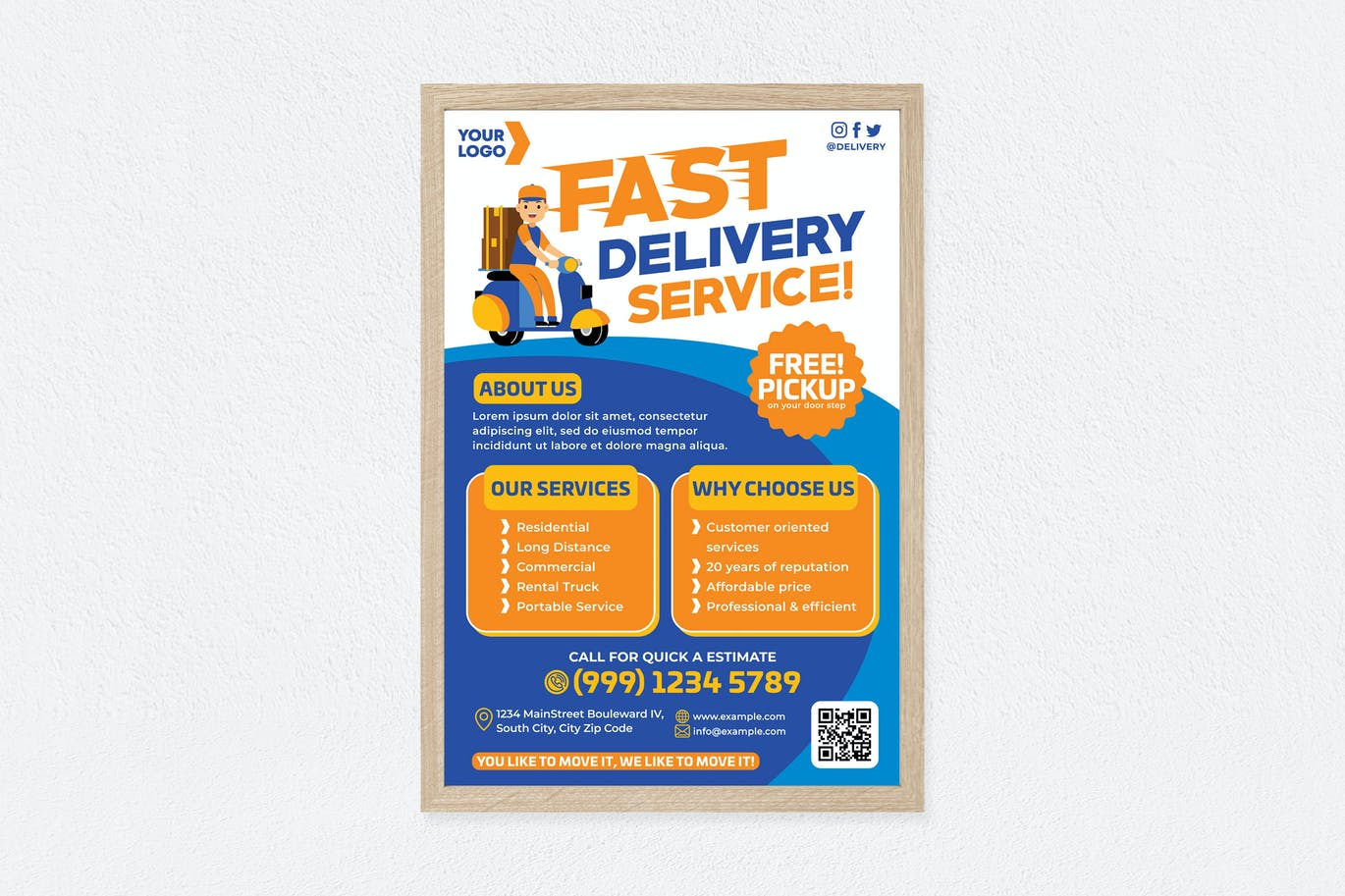 Fast Delivery Service Poster