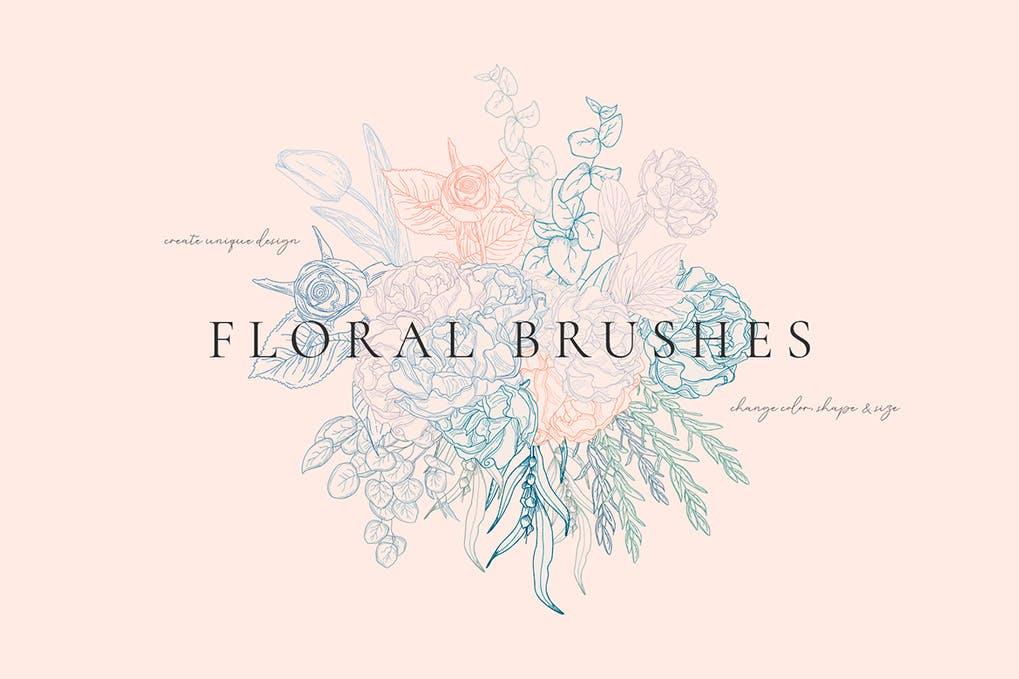 Floral Flexible Illustrator Brushes