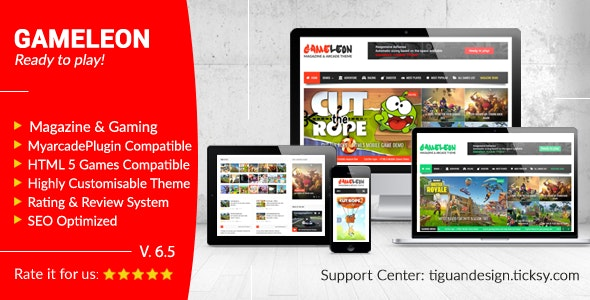 Gameleon - WordPress Arcade Theme & News Magazine