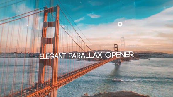 Glitch Parallax Opener