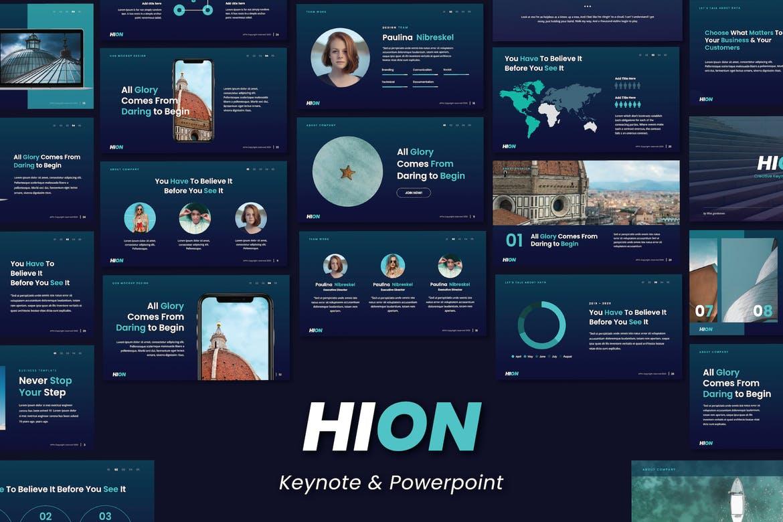 HION - Powerpoint & Keynote Template - Slidewerk