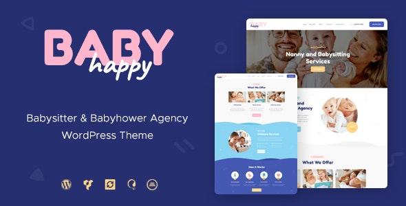 Happy Baby - Nanny & Babysitting Services Children WordPress Theme