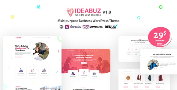 Ideabuz v1.1 - multifunctional WordPress theme for business