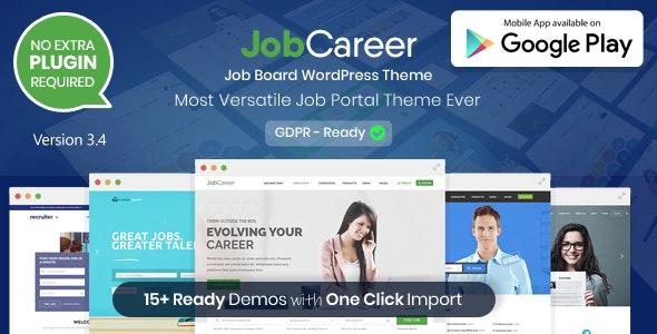 JobCareer v3.4 NULLED - Bulletin Board Directory Job WordPress Template
