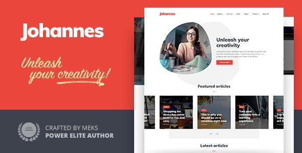 Johannes - Personal Blog Theme for WordPress
