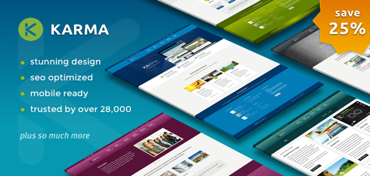 Karma v4.10.6 - Responsive WordPress Theme