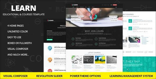 Learn - Education, eLearning WordPress Theme