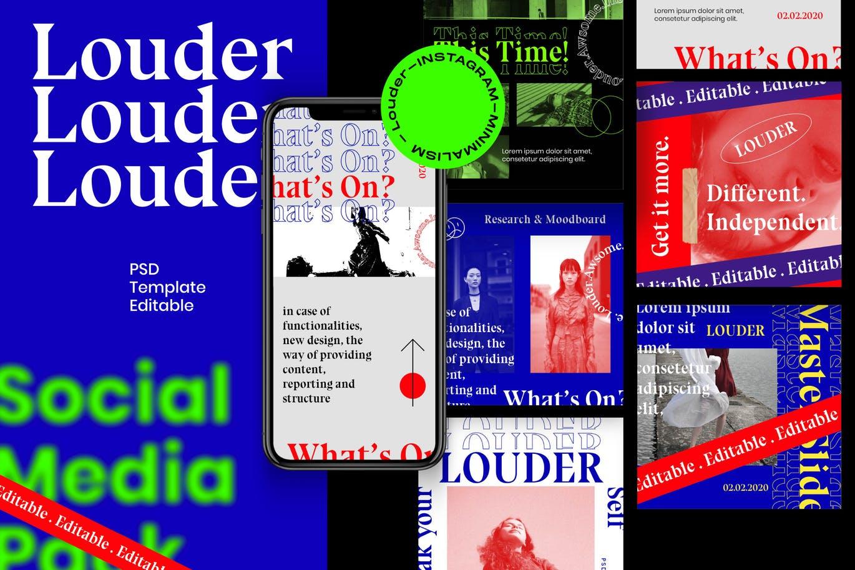 Louder - Insta Story & Post Social Media Vol.1