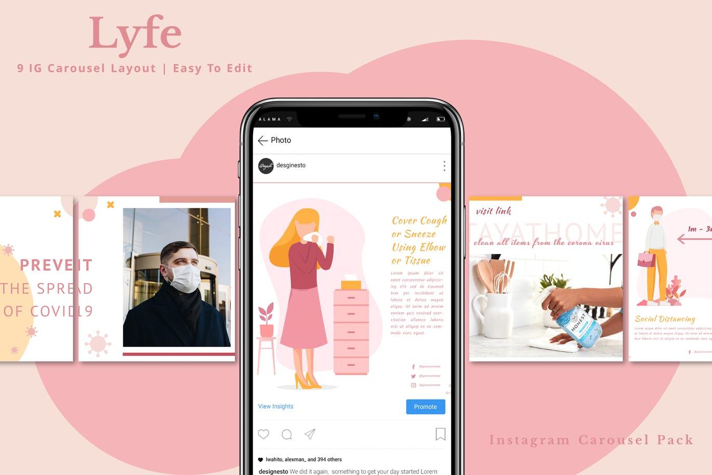 Lyfe – Social Media Carousel Pack