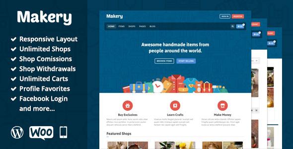 Makery v1.24 - WordPress online store template