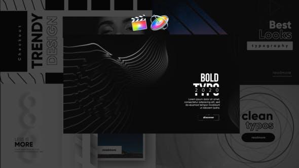 Monochrome Trendy Typography