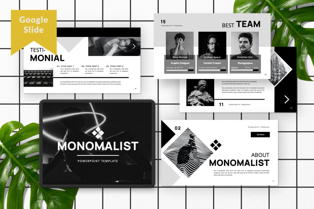 Monomalist Business Google Slide Presentation