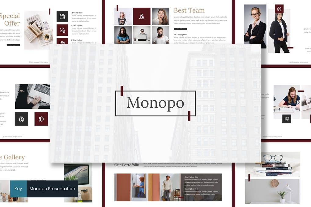 Monopo - Business Keynote Template