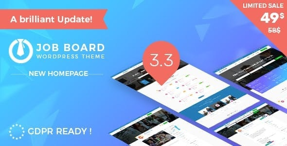 Multi features for recruitment WordPress Theme