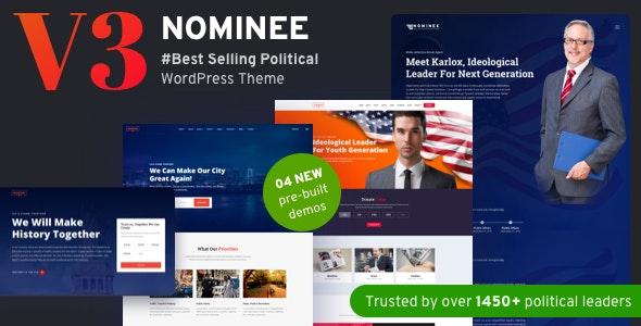 Nominee v3.2 - Political WordPress Theme
