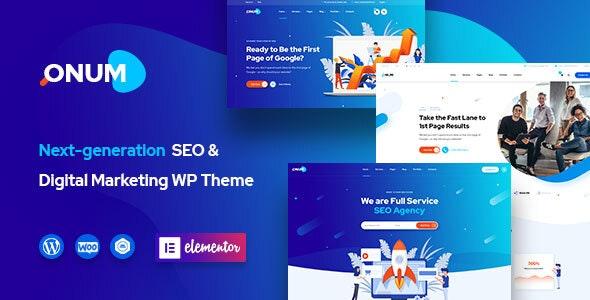 Onum v1.1.6 - SEO & Marketing WordPress Theme