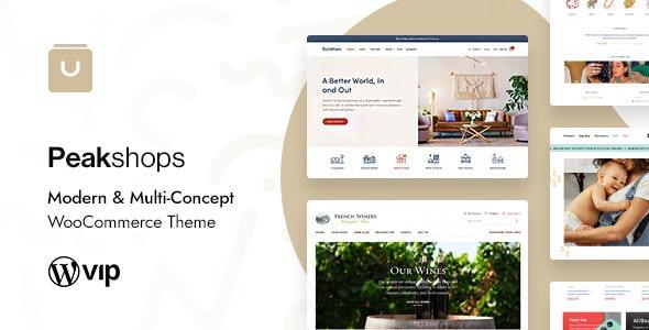 PeakShops - Modern & Multi-Concept WooCommerce Theme