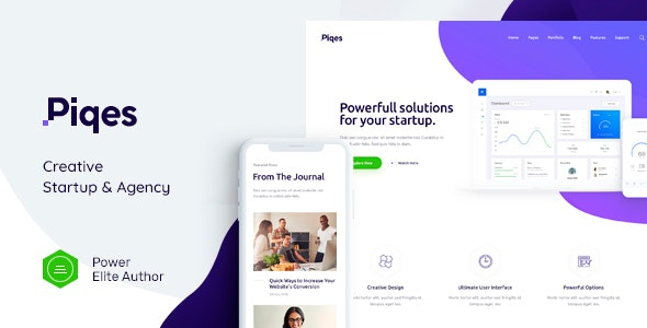 Piqes v1.0.1 NULLED - Creative Startup Agency WordPress Theme